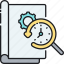 history, project, project history, timeline icon