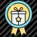 achievement, gift, present, reward icon