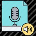audio, sound, sound clip, soundclips, voice message, voice recording icon