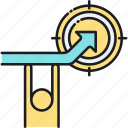 goal, long term goal, mission, stretch, stretch goal, vision icon