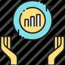 analysis, analytics, exchange, statistics, venture, venture exchange icon