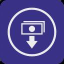 atm, cash, cashout, dollar, money, out, payment icon