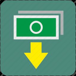 atm, bank, cash, cashout, dollar, money, out icon