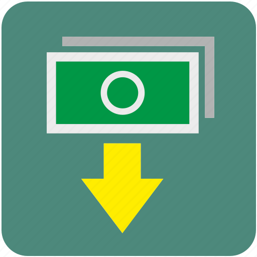 atm, bank, cash, cashout, dollar, money, out icon