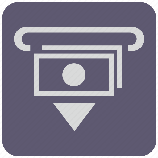 bank, cash, cashout, money, out, payment, wayfind icon