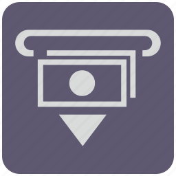 atm, cash, cashout, currency, money, out, wayfind icon