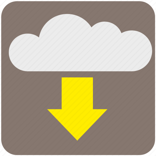 cloud, data, download, network, paas, service, storage icon