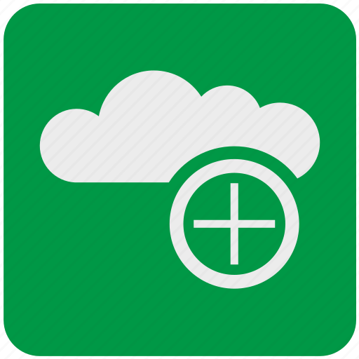 add, cloud, data, network, service, storage, upload icon