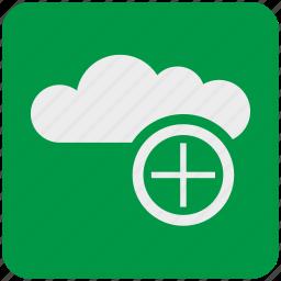 add, cloud, data, network, service, storage, upload icon