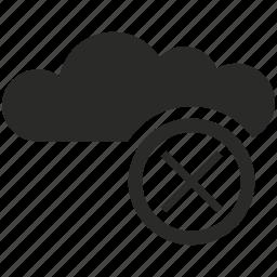 close, cloud, data, network, service, storage icon