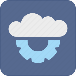cloud, data, network, paas, service, settings, storage icon