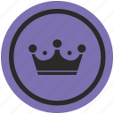 crown, game, king, monarch, royalty, top, winner icon