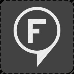 f, finish, goal, gps, mission, target icon