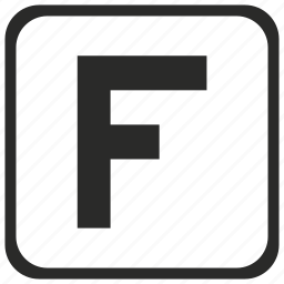 aim, f, finish, goal, success, target, uppercase icon