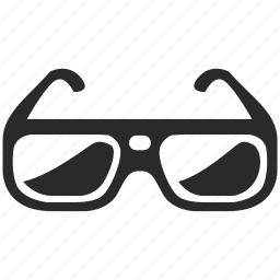 cinema, eye, eyeglasses, eyewear, glasses, view, vision icon
