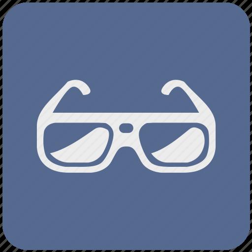 cinema, eye, eyewear, glasses, spectacles, vision icon