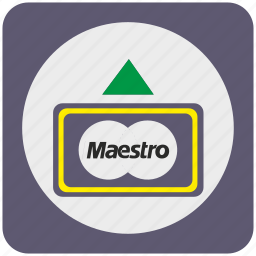 atm, bank, card, cash, credit, maestro, money icon