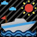 speedboat, sea, sailing, holiday, transportation icon