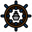 wheel, boat, steering, sailing, navigation