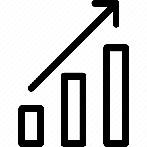 economy, exponential, finance, fintech, increase, office, statistic bar icon