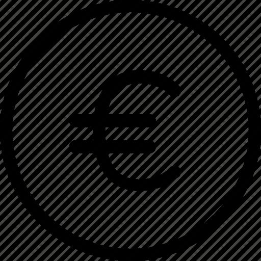coin, economy, euro, finance, fintech, money, office icon