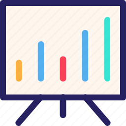 economy, finance, fintech, office, presentation, statistic bar icon