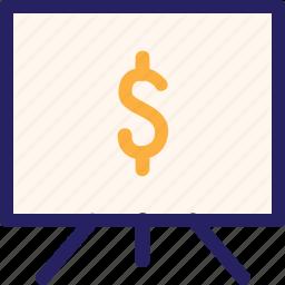 economy, finance, fintech, money, office, presentation, sales icon