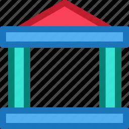balance, bank, building, economy, finance, fintech, office icon