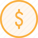 coin, dollar, economy, finance, fintech, money, office icon