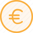 coin, economy, euro, finance, fintech, money, office icon