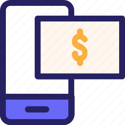 economy, finance, fintech, mobile, mobile payment, office, payment icon