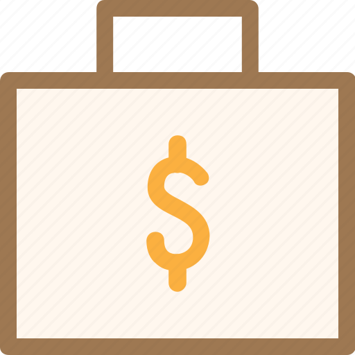 bag, briefcase, economy, finance, fintech, money, office icon
