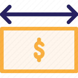dollar, economy, finance, fintech, flow, money, office icon