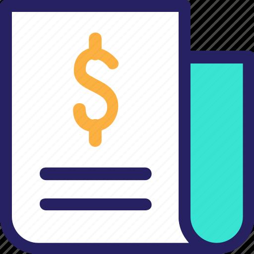 billing, economy, finance, fintech, invoice, money, office icon