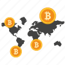 bank, bitcoin, coin, crypto, currency, digital, world icon