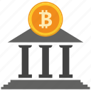 bank, bitcoin, coin, crypto, currency, digital, payment icon