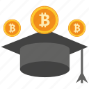 bank, bitcoin, coin, crypto, currency, digital, scholarship icon