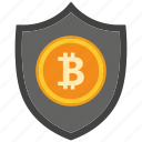 bank, bitcoin, coin, crypto, currency, digital, secure icon