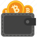 bank, bitcoin, coin, crypto, currency, digital, wallet icon