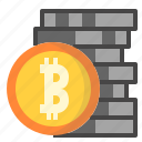 bitcoin, crypto, currency, digital icon