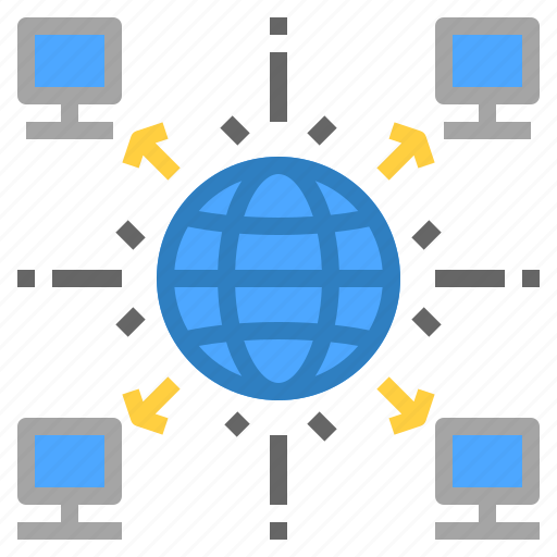cryptocurrency, decentralized, distribute, thirdparty icon