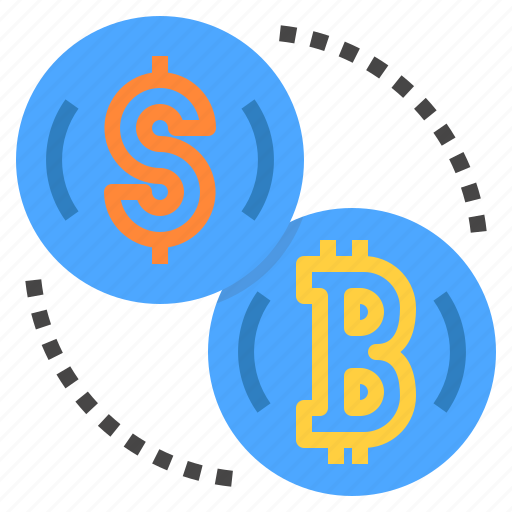 bitcoin, cryptocurrency, exchange, money icon