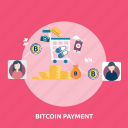 bitcoin, coin, cryptocurrencies, finance, gold, money, payment icon