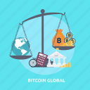 bitcoin, coin, concept, cryptocurrencies, finance, global, money icon