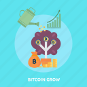 bitcoin, coin, cryptocurrencies, finance, gold, grow, money icon