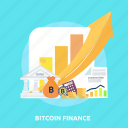 bank, bitcoin, chart, coin, cryptocurrencies, finance, money icon