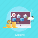 bitcoin, cloud, coin, computer, cryptocurrencies, finance, money icon