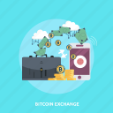 bitcoin, concept, cryptocurrencies, finance, mobile, money, wallet icon
