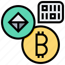 address, bitcoin, cashless, coin, cryptocurrency, currency, money icon