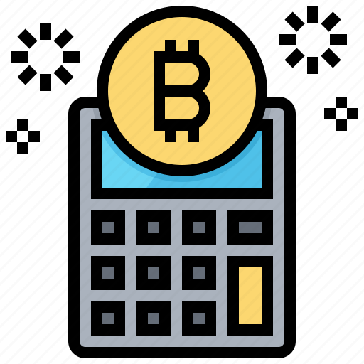 bitcoin, calculator, cashless, cryptocurrency, currency icon